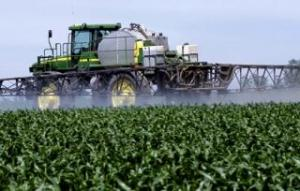 chemical Fertilisers Tractor on the field